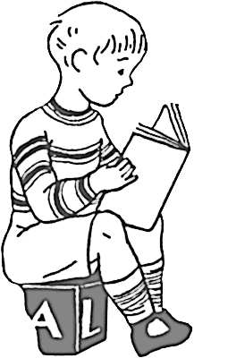 Child Reading A Book Clipart - ClipartDeck
