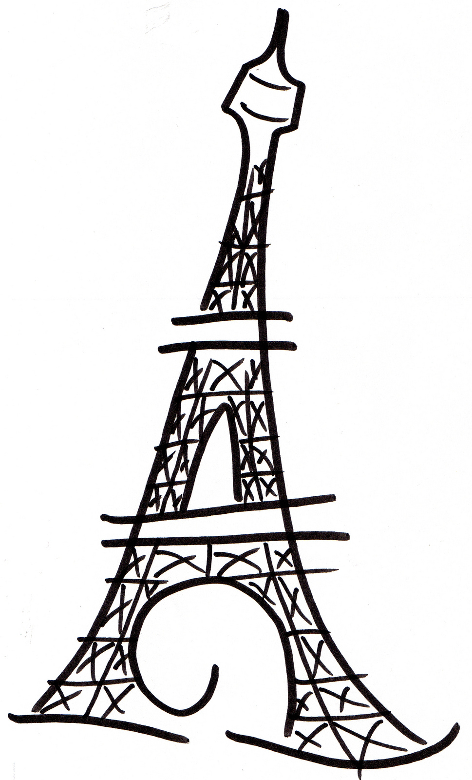 easy eiffel tower doodle - photo #10