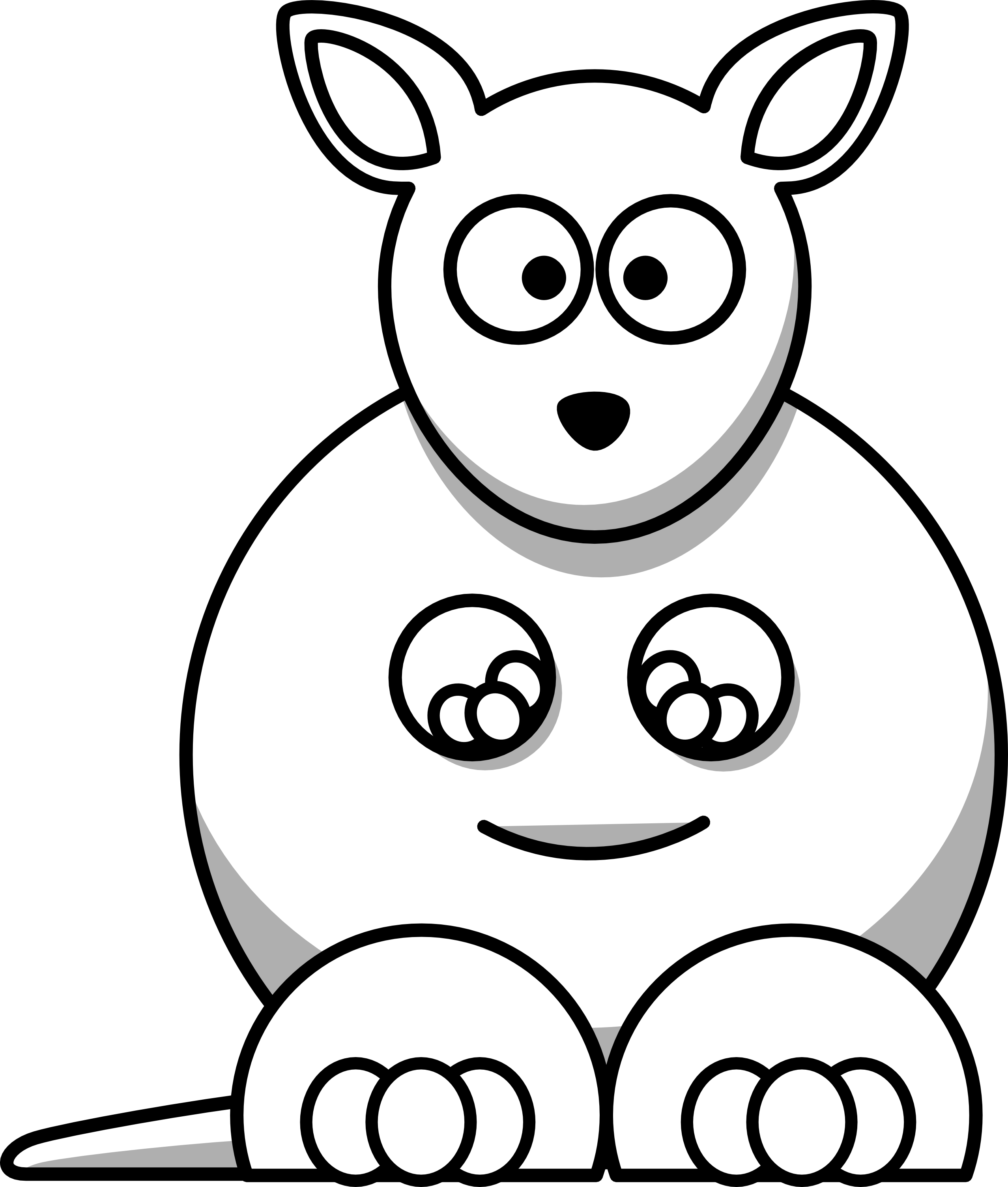 Black And White Line Drawings Of Animals : Black and white cartoon animals clipart best
