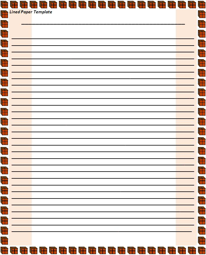 Notebook Paper Template - ClipArt Best