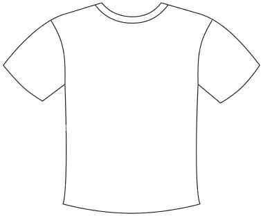 T Shirt Outline Printable