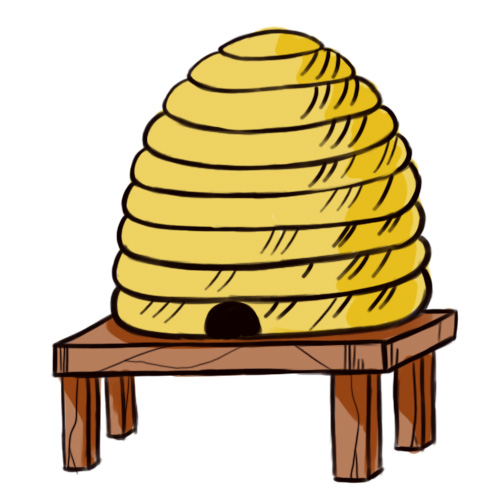 Cartoon Bee Hive - ClipArt Best