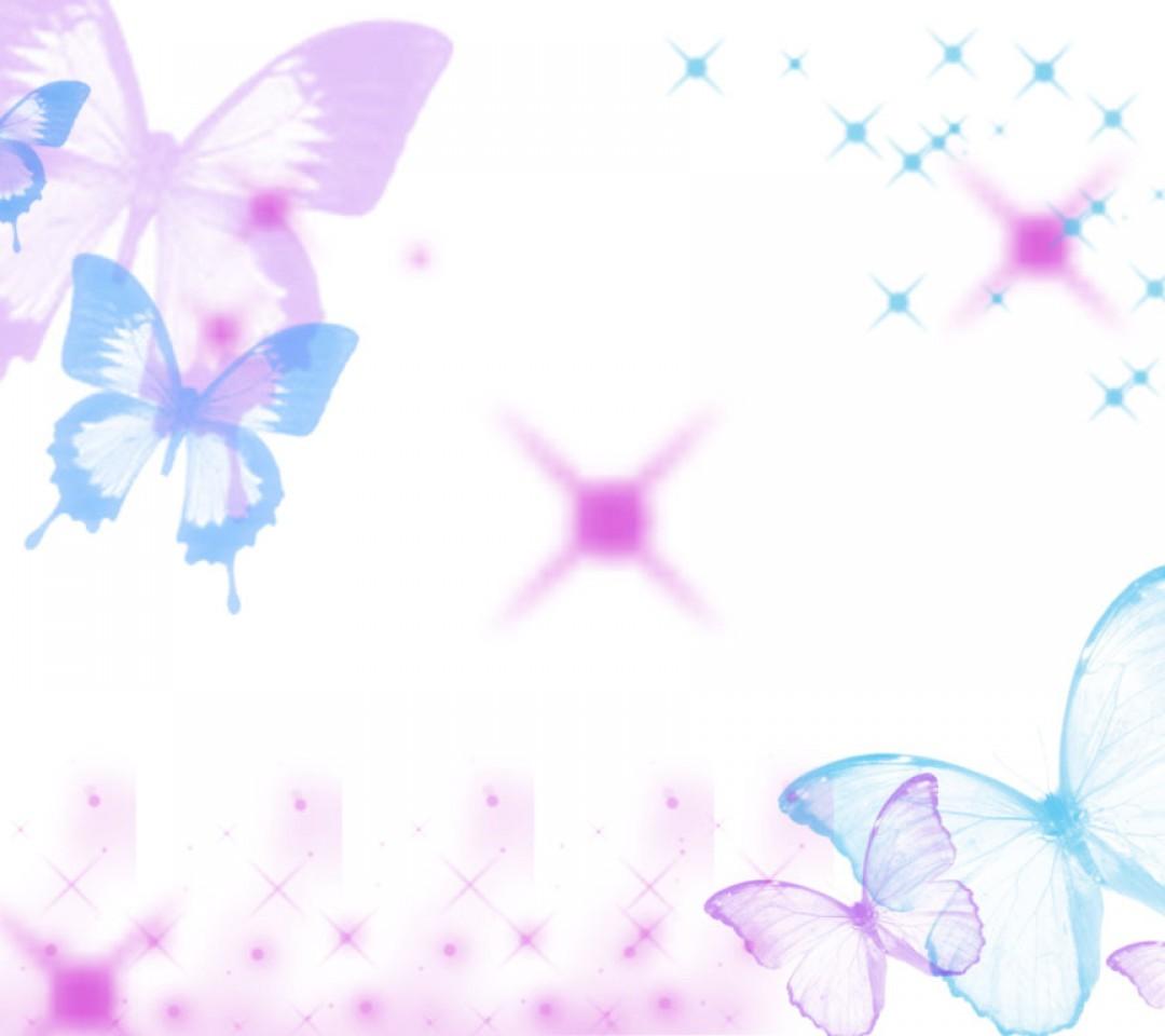 pink butterfly wallpaper border