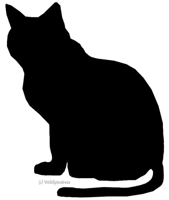 Black cat silhouette clip art clipart best for Black cat templates for halloween
