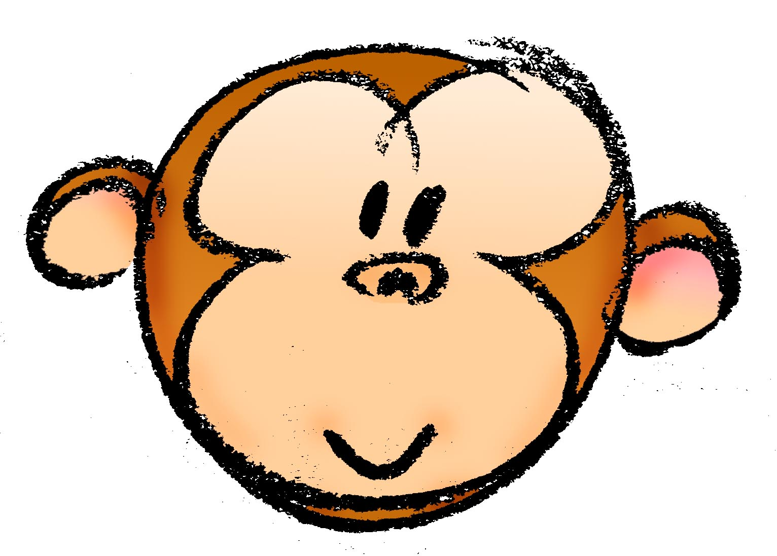 Monkey Face Cartoon - ClipArt Best