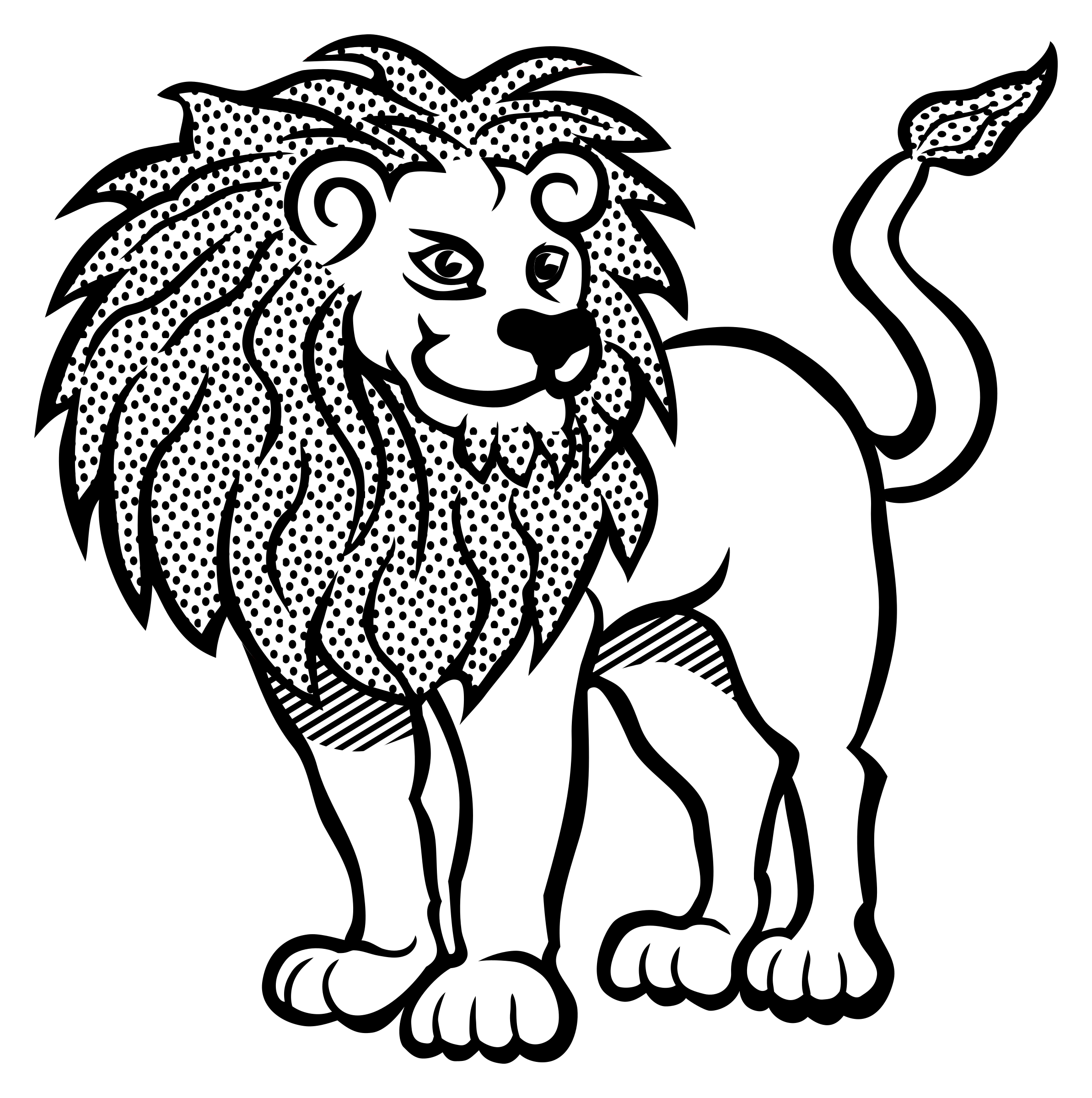 Line Art Lion : Lion line art clipart best