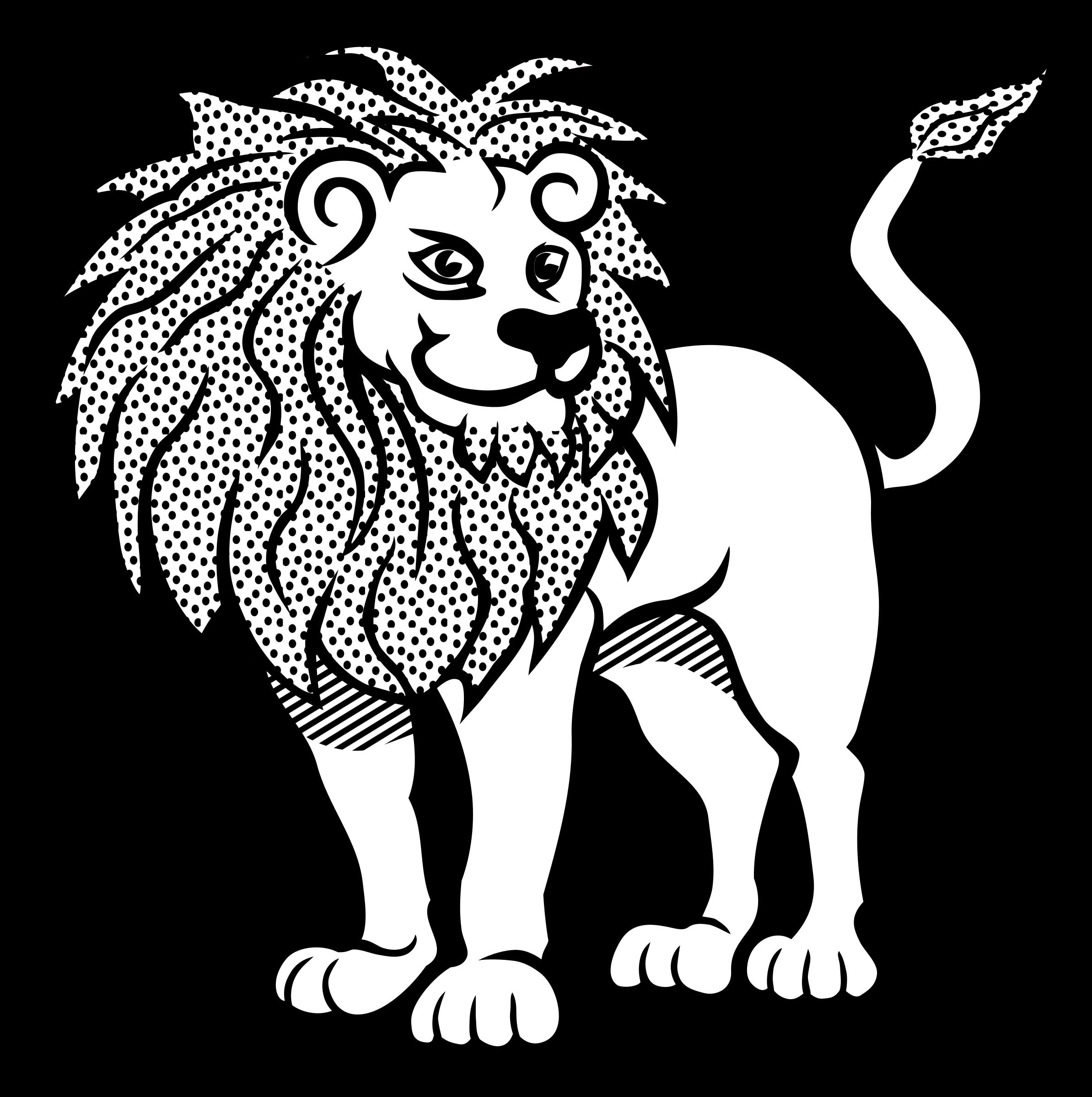 Line Drawing Of Lion : Lion line art clipart best