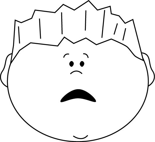 Scared face clipart black and white - ClipartFox