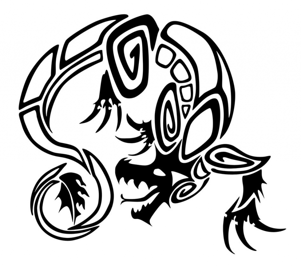 black and white tribal tattoos clipart of black and white