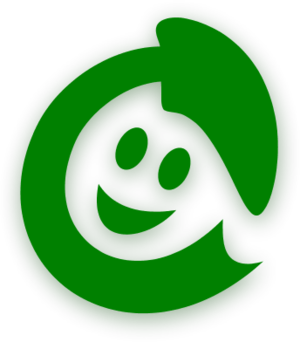 smiley face as a recycling logo - vector Clip Art