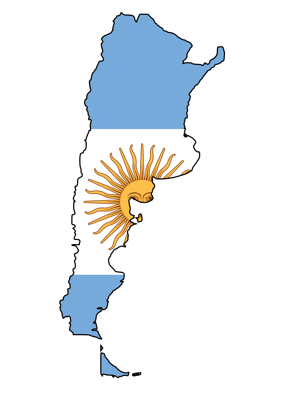 Argentina Flag Map - Mapsof. - ClipArt Best - ClipArt Best