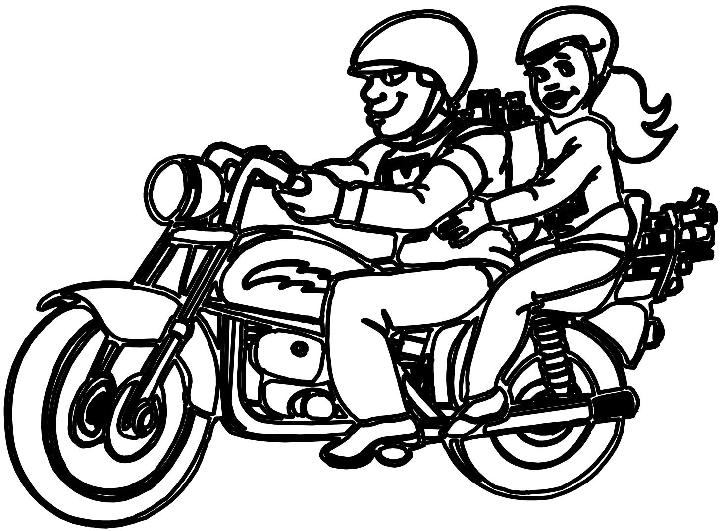 Line Art Motorcycle : Motorcycle line drawing clipart best