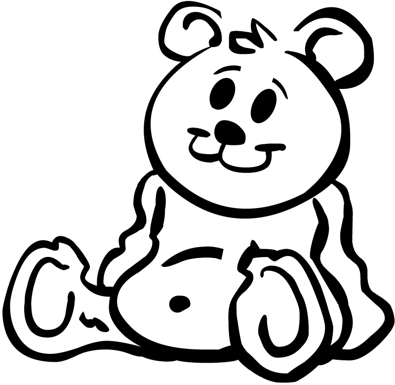 Line Art Bear : Teddy bear line drawing clipart best
