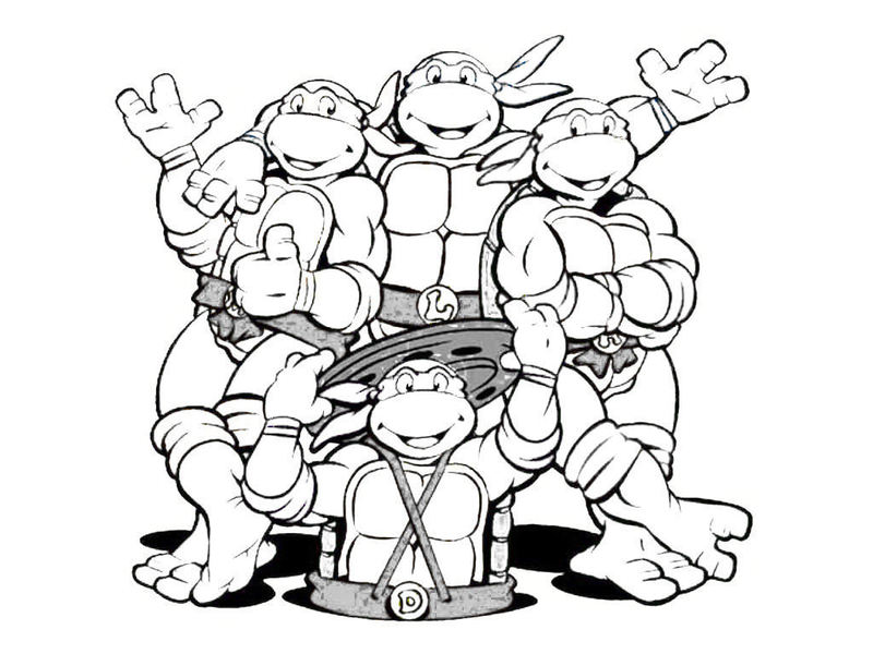 nickelodeon tmnt coloring pages - photo#14