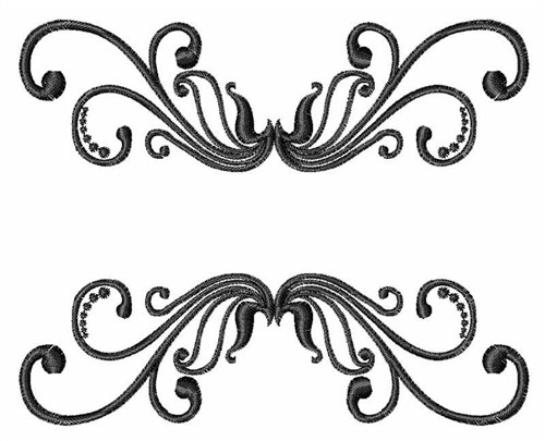 embellishments embroidery design swirl border from