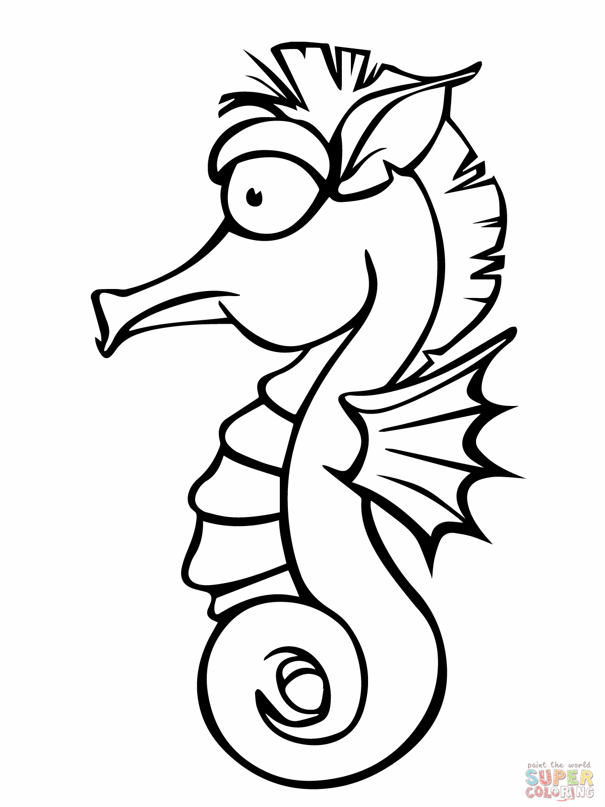 easy to draw seahorse - photo #29