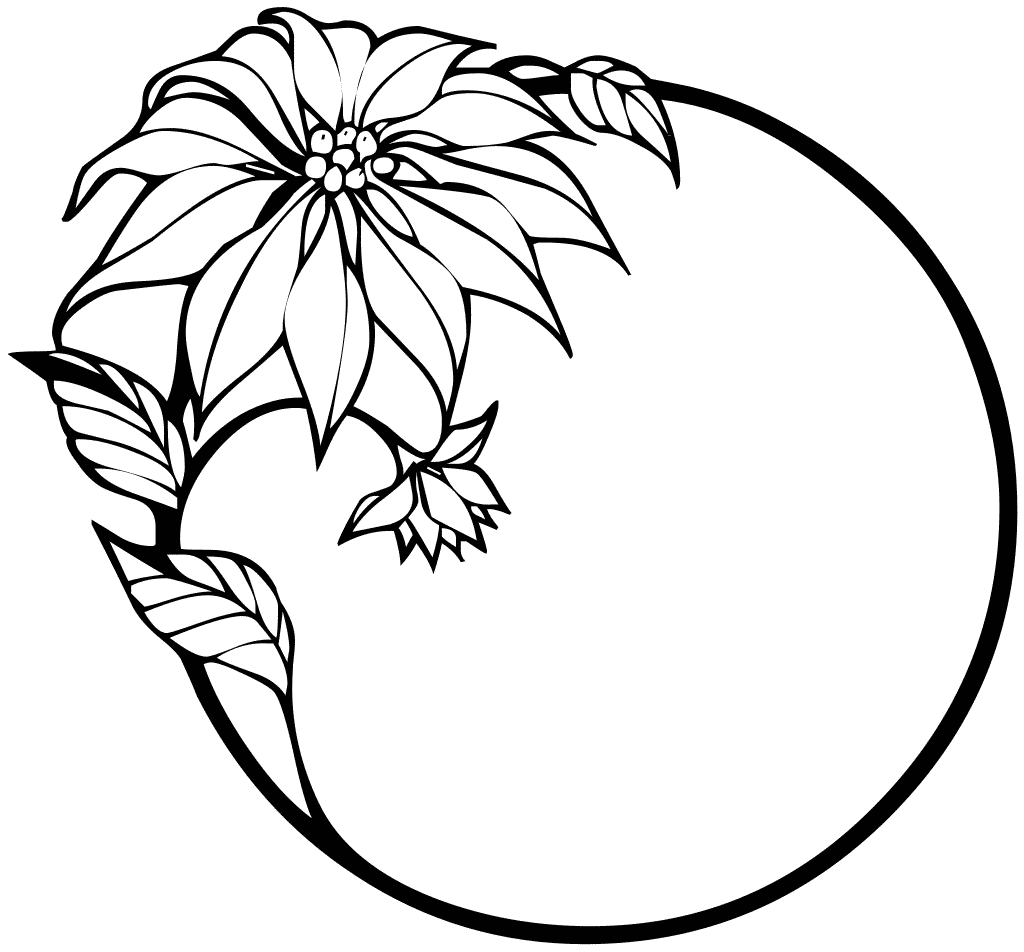 coloring pages of christmas flowers - photo#14