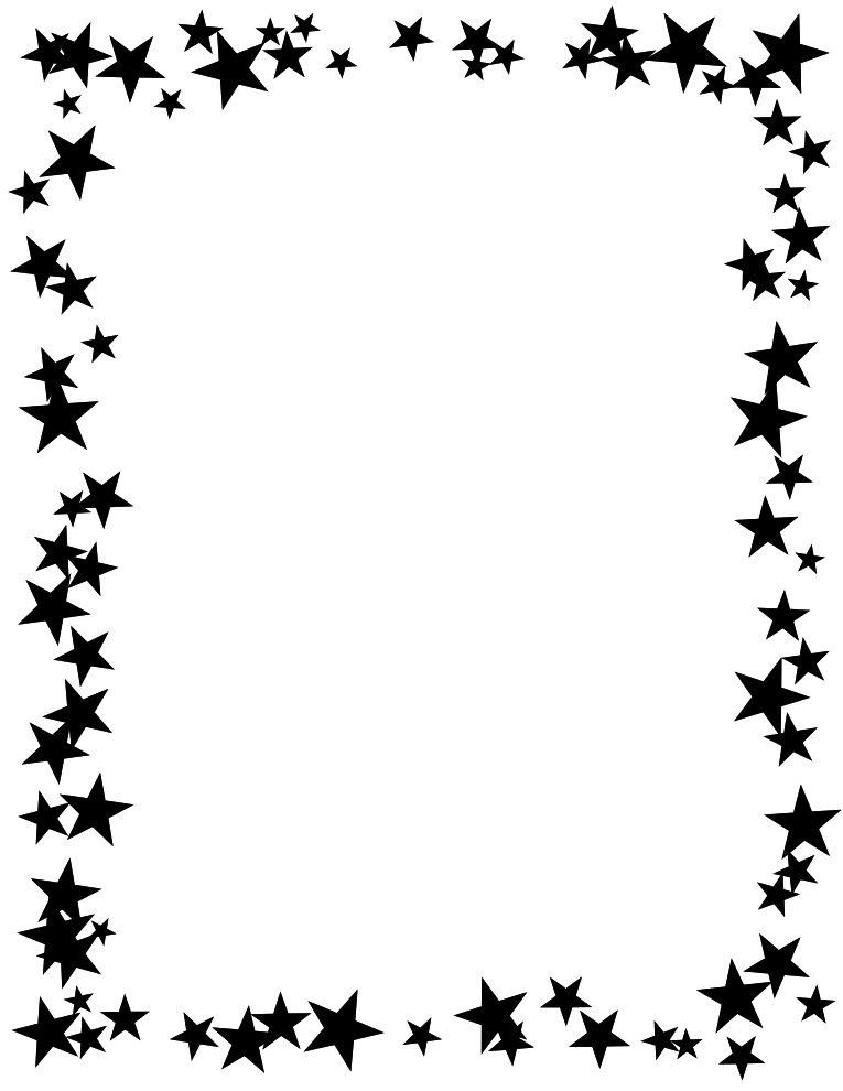 Star page borders clipart best