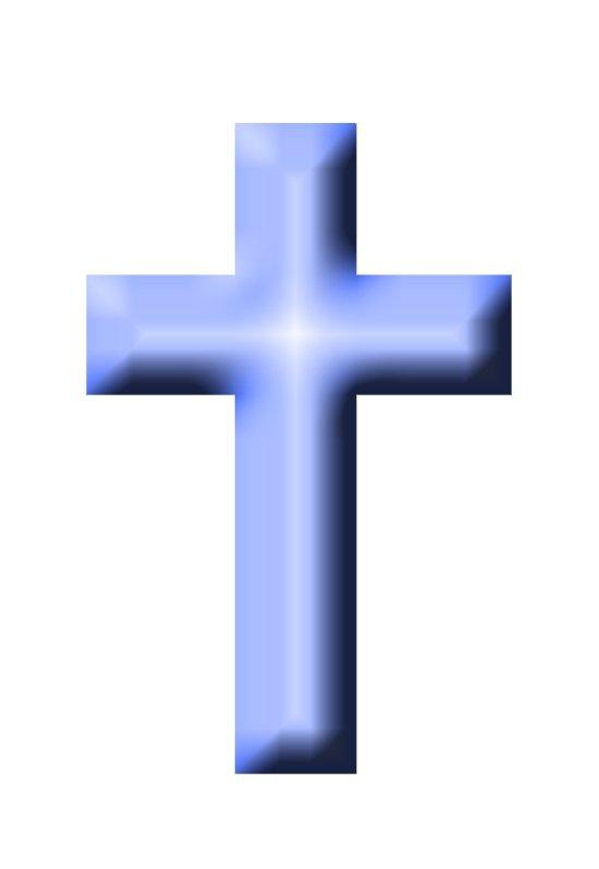 Blue Christening Cross - ClipArt Best