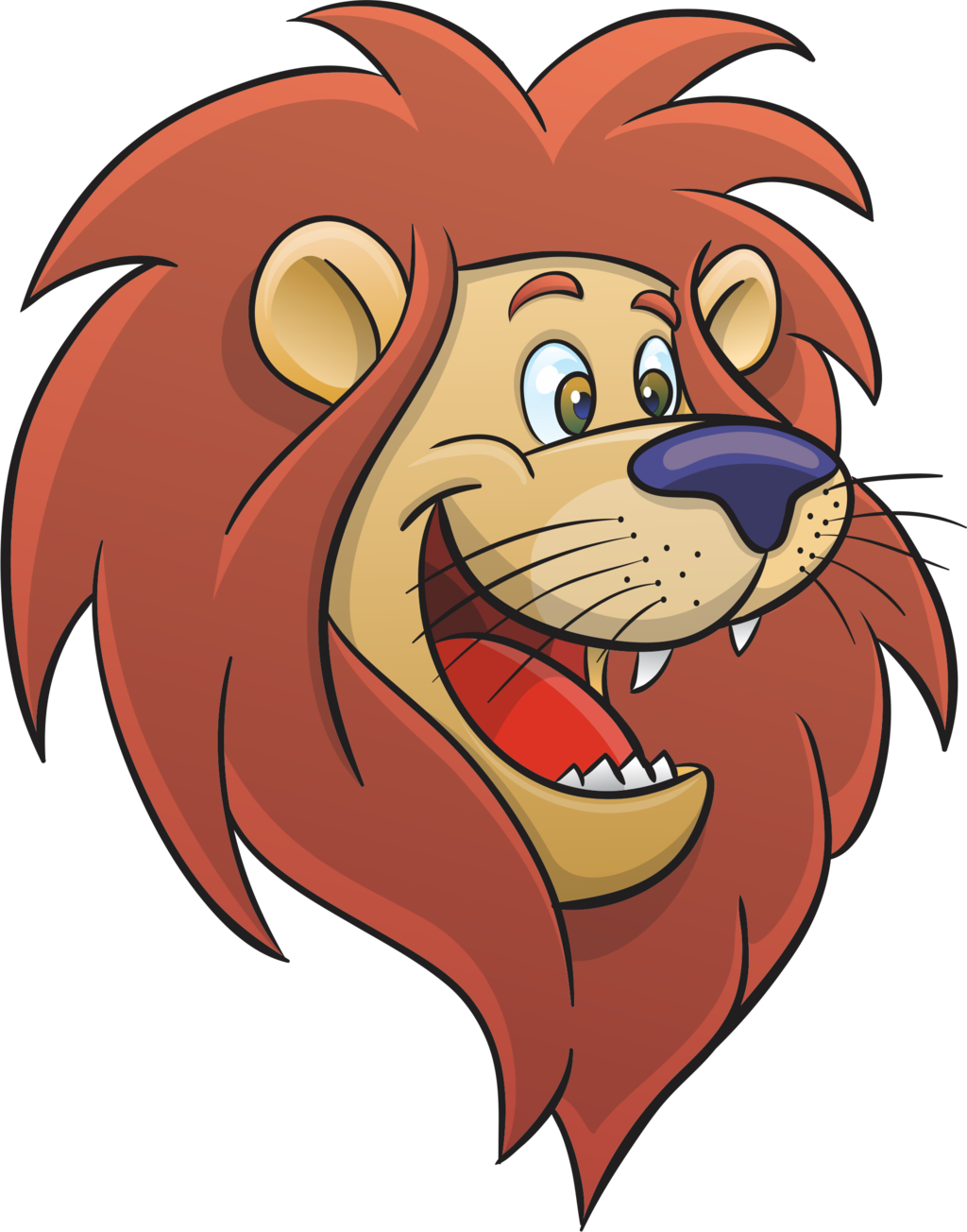 Cartoon Lion Face - ClipArt Best