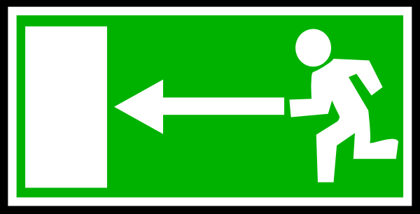 Emergency Exit Sign 1 clip art - vector clip art online, royalty ...