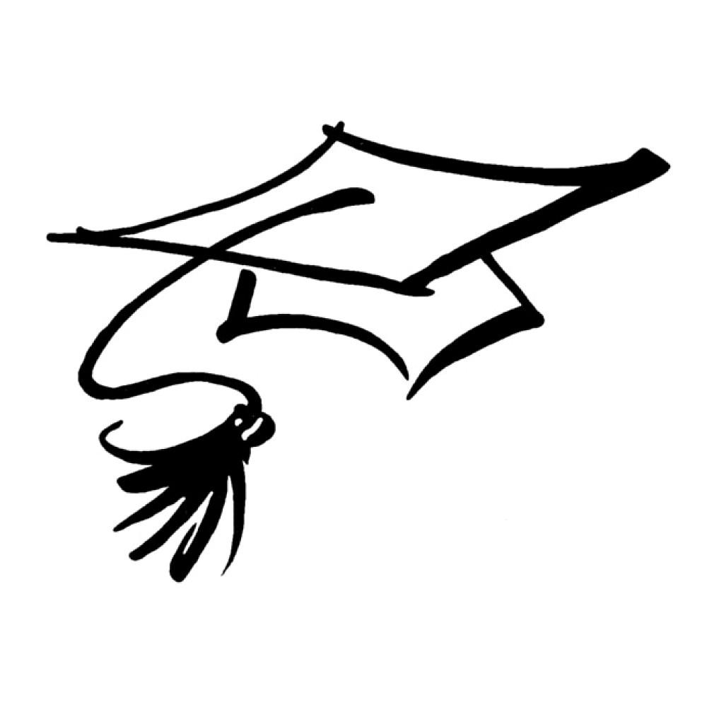 graduation cap outline clipart best Preschool Cap and Gown Clip Art Florida Gators
