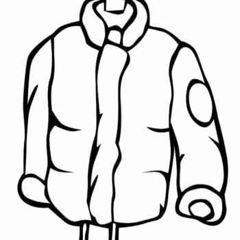 Coloring page of a coat clipart best for Winter coat coloring page