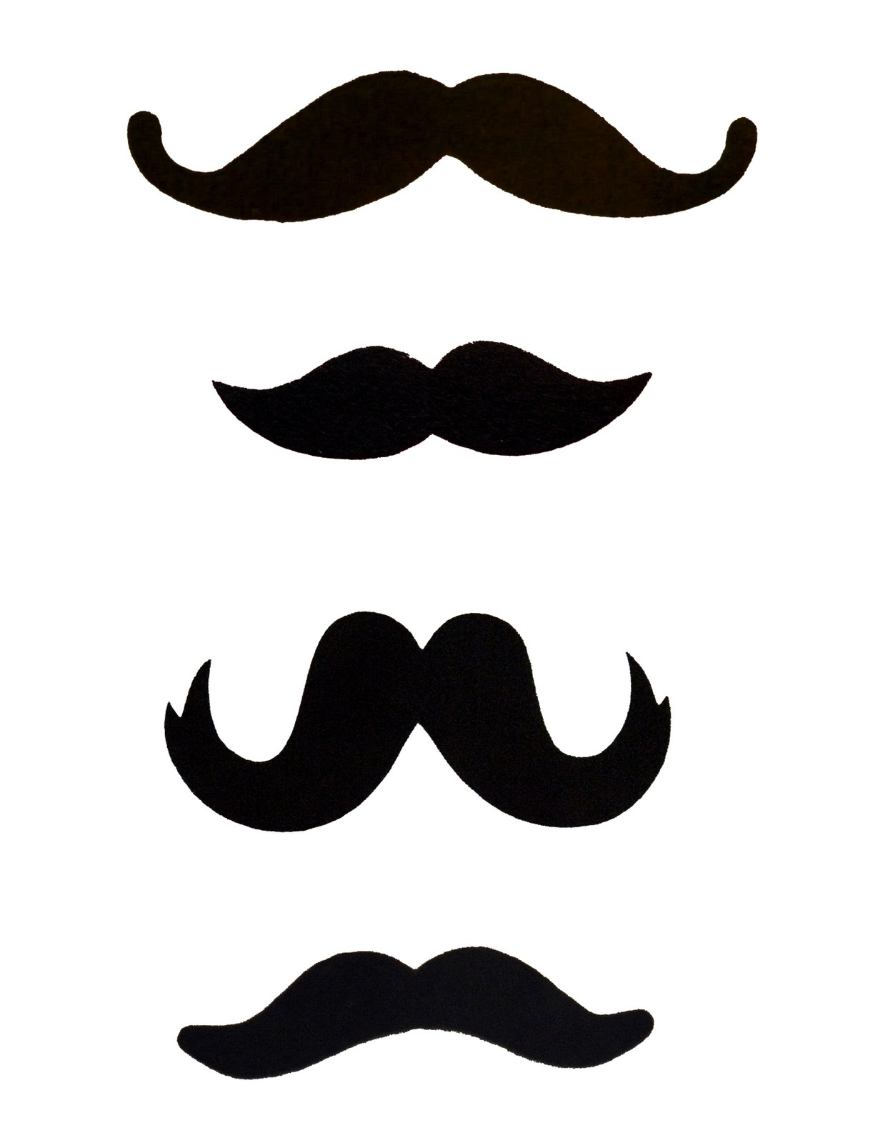 Free mustache template clipart best for Mustache templates printable