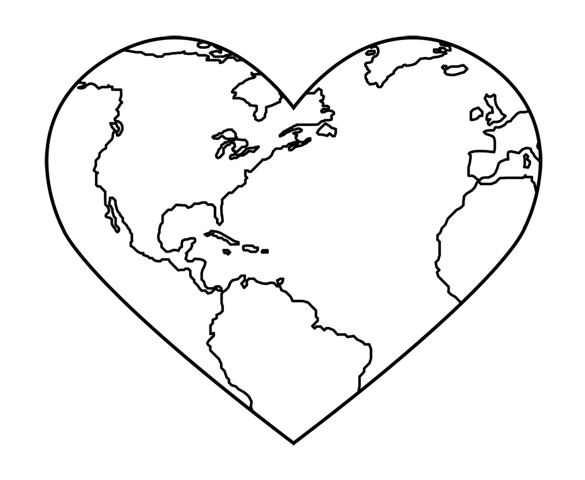 Black And White Heart Tattoos Clipart Best Coloring Pages Of The Earth
