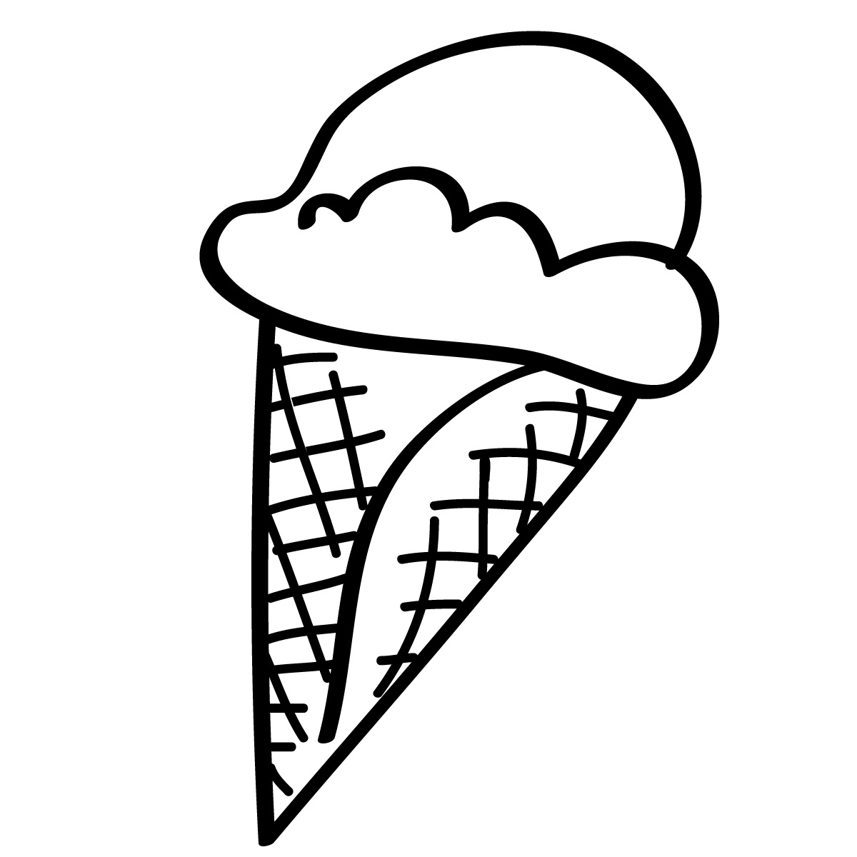 Ice Cream Line Drawing Ice Cream Cone Coloring