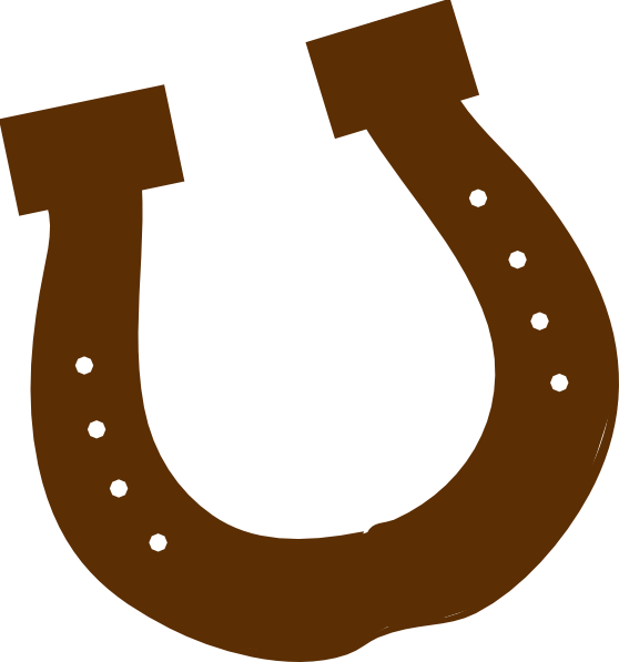 Horseshoe outline clipart png