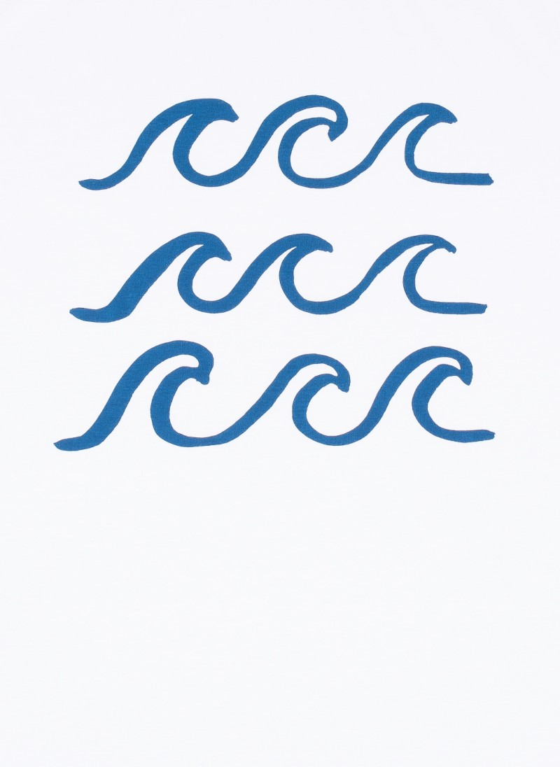 Simple wave outline drawing