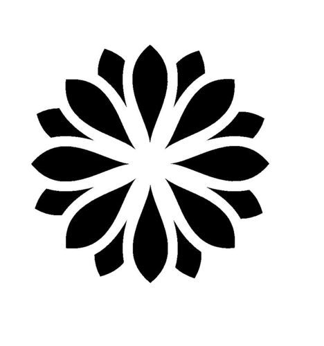 Flower Stencil Templates - ClipArt Best