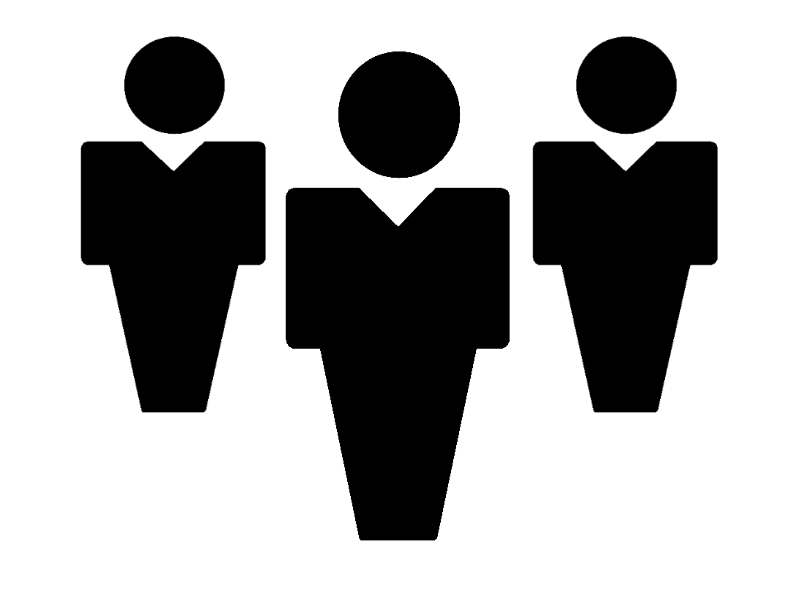 Silhouette people clipart