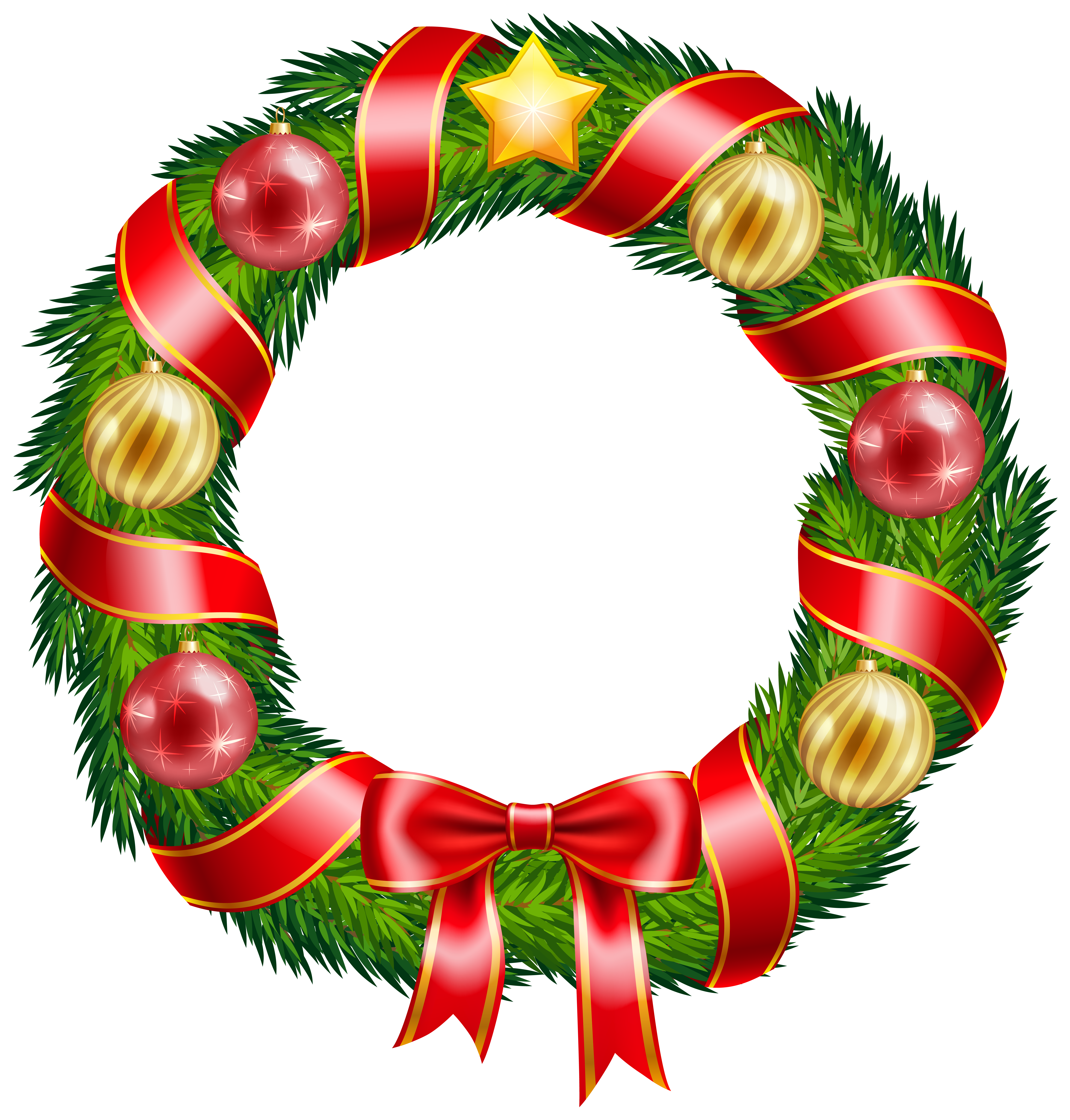 Christmas Wreaths Clipart - ClipArt Best