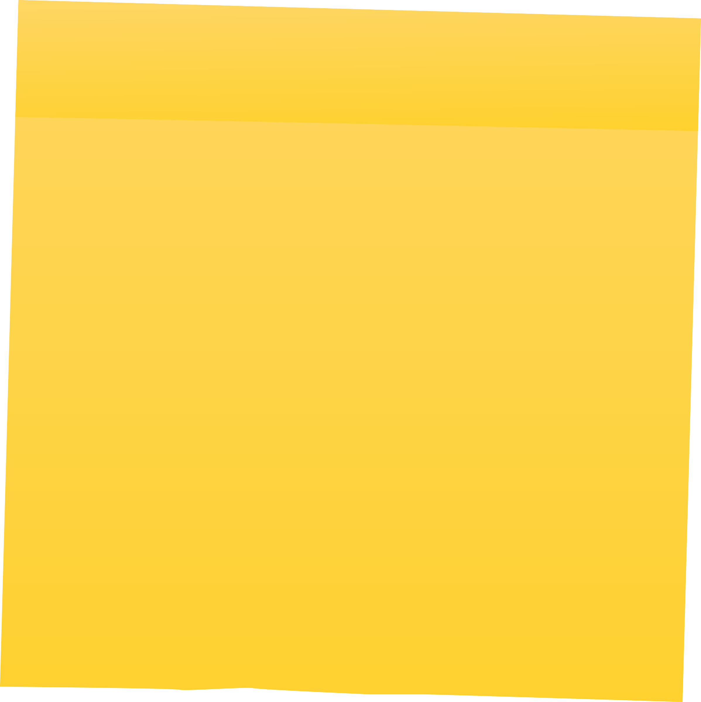Clipart - Yellow Post It Note