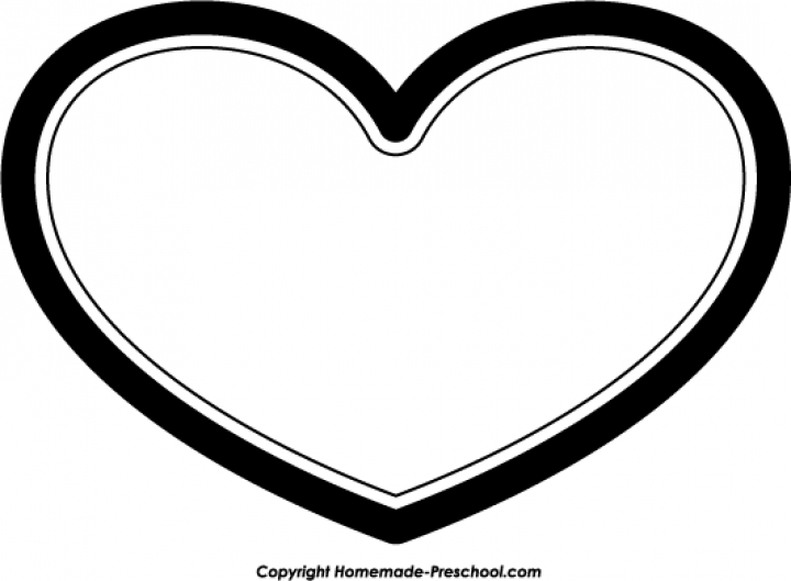 Free black and white christmas heart clipart