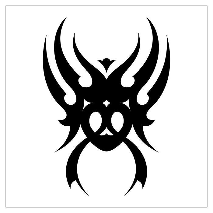 tribal black spider shoulder tattoo design image black and white clipart best clipart best. Black Bedroom Furniture Sets. Home Design Ideas