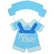It's a Boy Blue Baby Shower Nursery Hanging Felt Sign Decoration ...