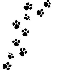 Printable Dog Paw Print Stencil - ClipArt Best