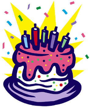 Image - Birthday-cake-clipart-with-streamers.jpg - Pirates of the ...
