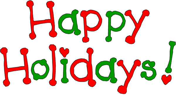 December Holiday Clip Art Free Happy holiday clip art