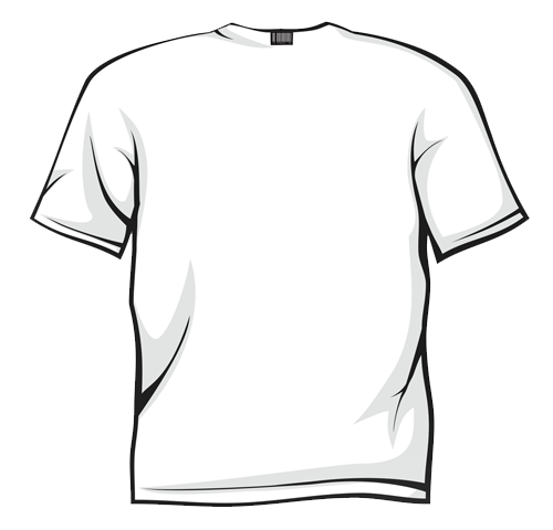 Scribble Drawing T Shirt : White t shirt back clipart best