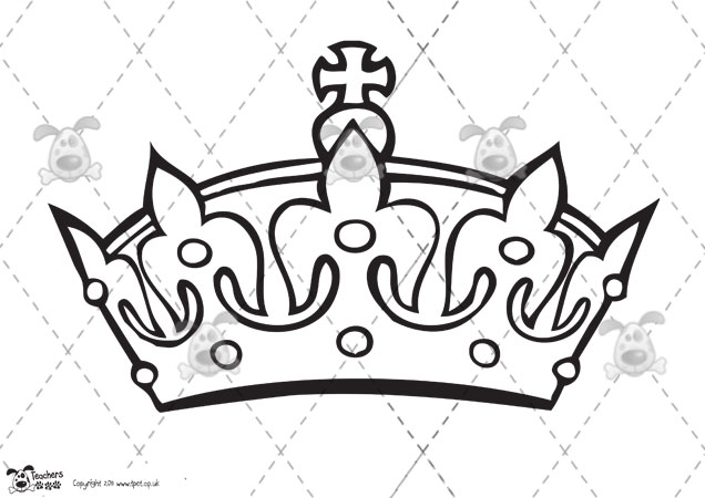 Simple king crown outline - photo#18