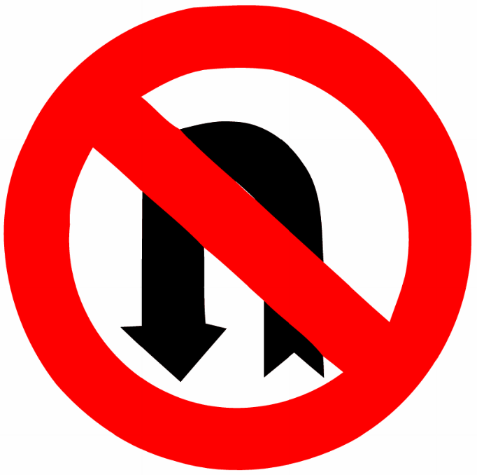 no u turn sign clipart best