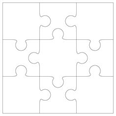 jigsaw puzzle template for word - 9 piece jigsaw puzzle clipart best