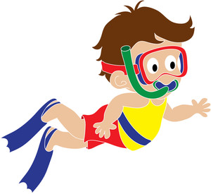 Little Girl Swimming Clipart - Free Clipart Images ...  Little