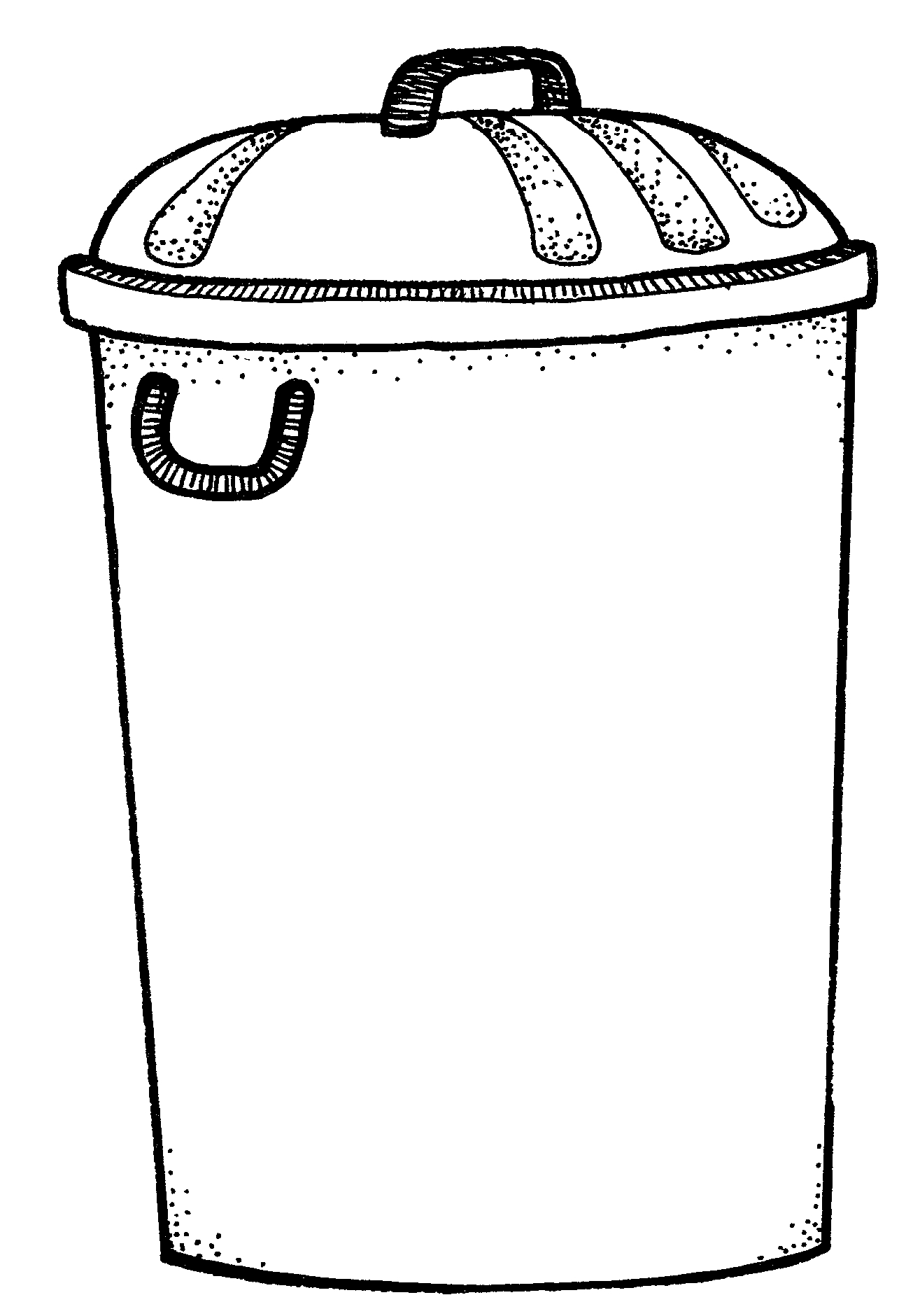 black and white trash can Colouring Pages