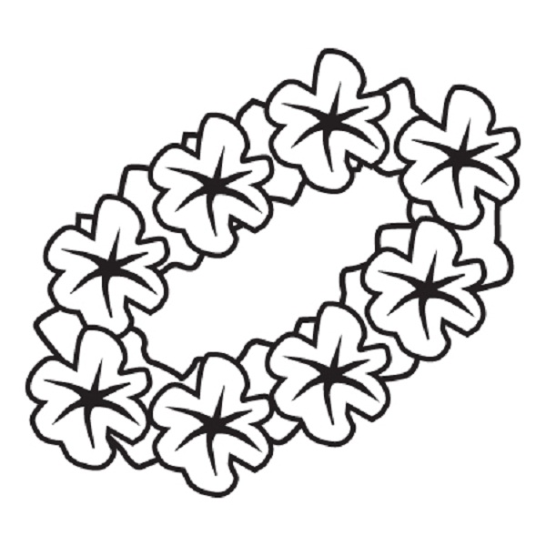 hawaiian flowers color tropical coloring pages printable