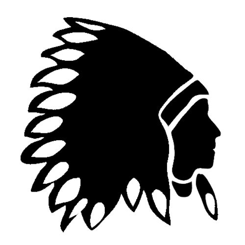 indian silhouette clipart best Indian Chief Clip Art Indian Chief Skull Logo